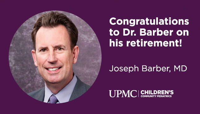 Congratulations to Dr. Barber on his retirement.