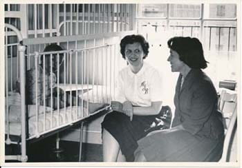 Trustee visiting patient, 1965