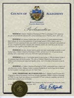 County of Allegheny,  Rich Fitzgerald, County Executive historical document