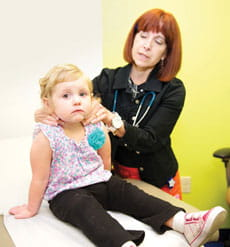 A Patient at the Pediatric Thyroid Center