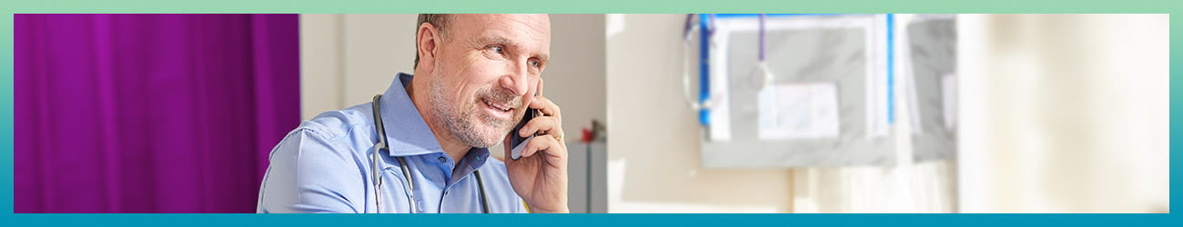 Doctors talking on the phone