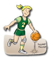 Injury Prevention Basketball cartoon