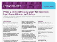 Gliomas (Low-Grade) Vaccine Study Fact Sheet (PDF)