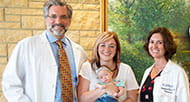 Emery and Allee Mullen and doctors