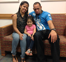 Naldyshka's  father, Arnaldo, was a perfect match for a living donor transplant
