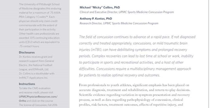 Science of Concussion Fall 2016