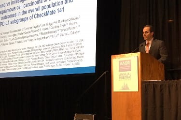 Dr. Robert Ferris Presents CheckMate-141 Clinical Trial Results at AACR 2018