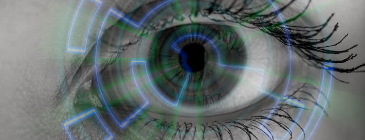photo of medical eye scan