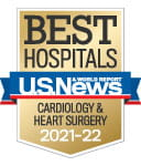 One of the best national hospitals, ranked in cardiology by U.S. News and World Report.