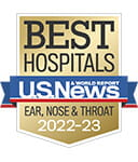 One of the best national hospitals, ranked in ear, nose and throat care by U.S. News and World Report.