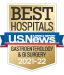 One of the best national hospitals, ranked in gastroenterology and GI surgery by U.S. News and World Report.