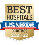 One of the best national hospitals, ranked in geriatrics by U.S. News and World Report.