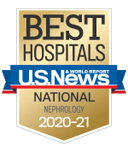 One of the best national hospitals, ranked in nephrology by U.S. News and World Report.