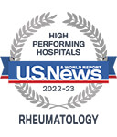 One of the best national hospitals, ranked in rheumatology by U.S. News and World Report.