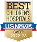 One of the best children's hospitals, ranked in cancer care by U.S. News and World Report.