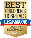 One of the best children's hospitals, ranked in diabetes and endocrinology by U.S. News and World Report.