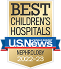 One of the best children's hospitals, ranked in neprology by U.S. News and World Report.
