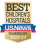 One of the best children's hospitals, ranked in pulmonology by U.S. News and World Report.