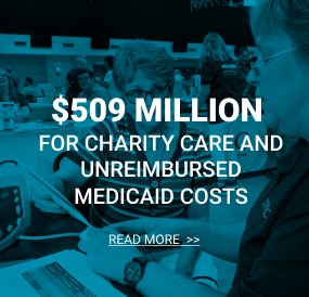 $479 Million for charity care and unreimbursed medicaid costs.