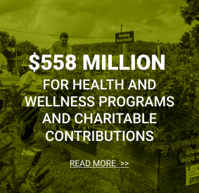 $376 million for health and wellness programs and charitable contributions