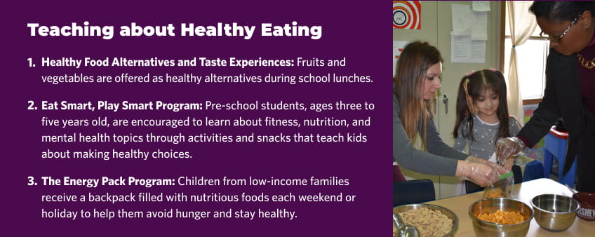 Teaching about healthy eating