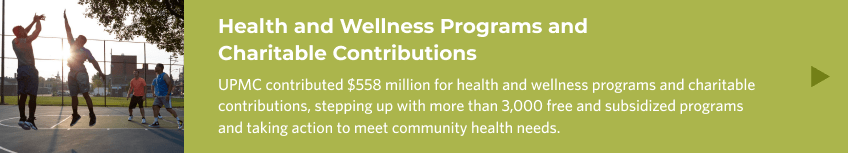 Health and Wellness Programs and Charitable Contribuions