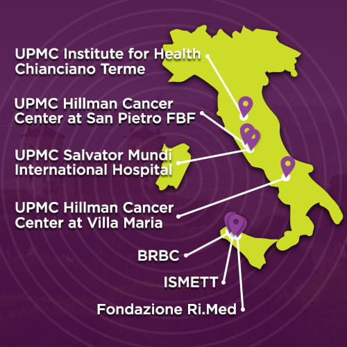 Map of Italy | UPMC International Division