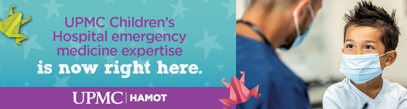 UPMC Children's Hospital emergency medicine expertise is now right here.