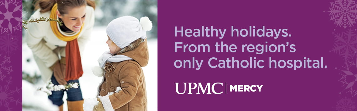 Healthy holidays.  From the region's only Catholic hospital.