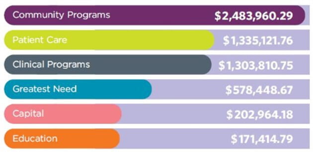 Chart of programs that our donations support
