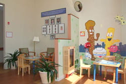 Inside of the Bloomfield-Garfield Family Health Center.