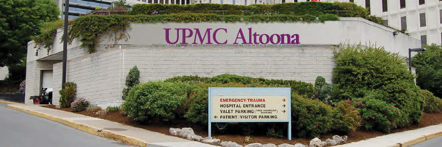 UPMC Altoona directions sign