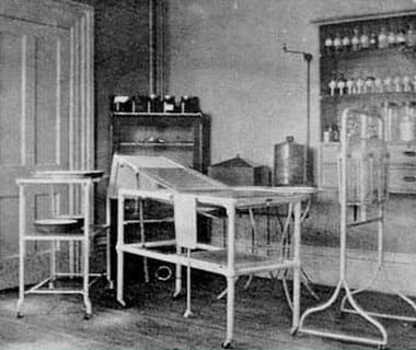 UPMC Chautauqua's first operating room (circa early 1900's).