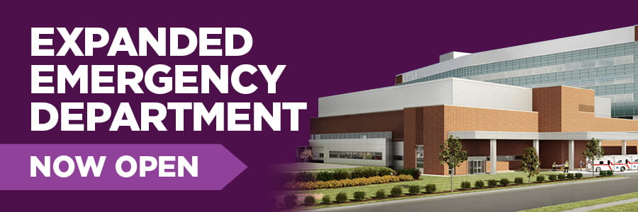 Expanded emergency department now open.