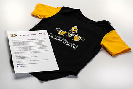 Pittsburgh Penguins® onesie and letter