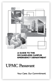 UPMC Passavant-McCandless Emergency Department Brochure cover