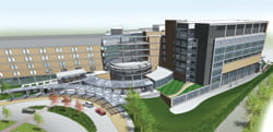 UPMC Passavant Main Entrance Rendering