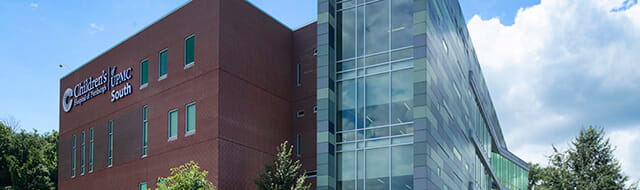 An exterior image of the UPMC Children's South campus in Bridgeville.