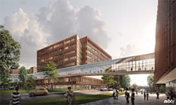 Exterior view of UPMC Hillman Cancer Hospital at UPMC Shadyside.