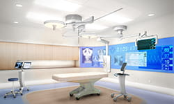 Operating room at UPMC Heart and Transplant Hospital.