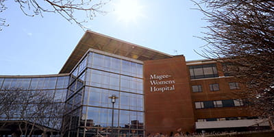 Exterior view of UPMC Magee-Womens Hospital.