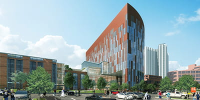 Exterior view of UPMC Vision and Rehabilitation Hospital.