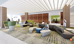 UPMC Vision and Rehabilitation Hospital seating area.