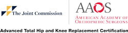 The Joint Commission's Gold Seal of Approval® for Advanced Total Hip and Knee Replacement Certification,