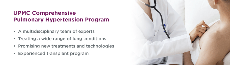 UPMC Comprehensive Pulmonary Hypertension Program Banner.