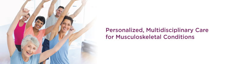 Personalized, multidisciplinary care for musculoskeletal conditions