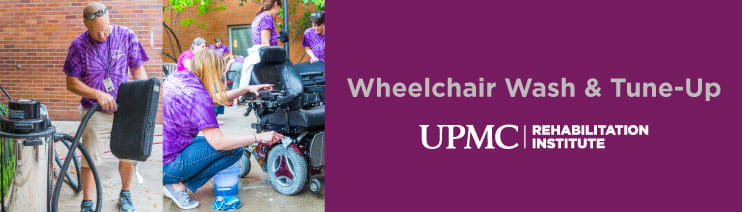 Wheelchair Wash and Tune Up at the UPMC Rehabilitation Institute