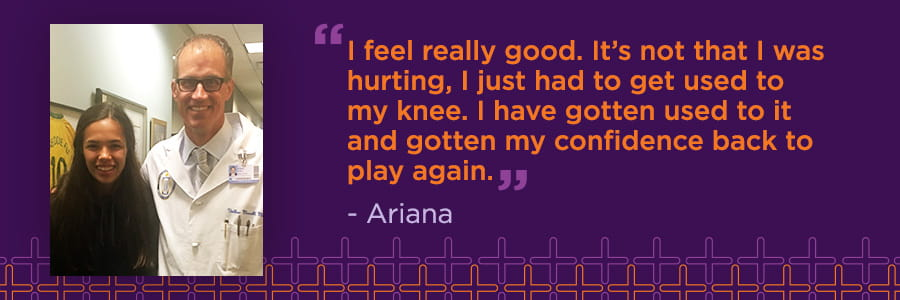 Ariana Camino: Partial ACL Tear Patient Story