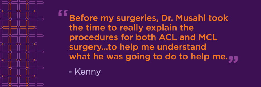 Kenny's Story: Recovering from Multiple ACL Injuries