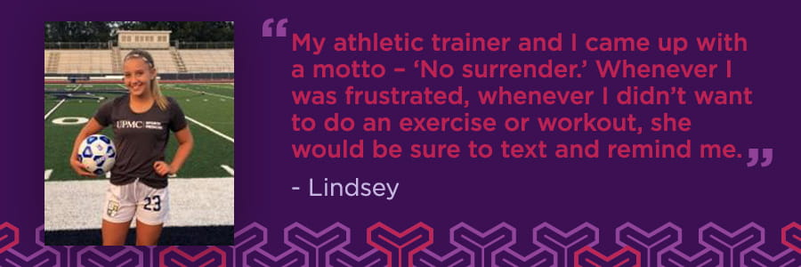 Lindsey's Story: Lisfranc Injury No Match for Soccer Player's Spirit